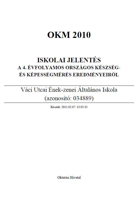 OKEV 2010 4. osztály