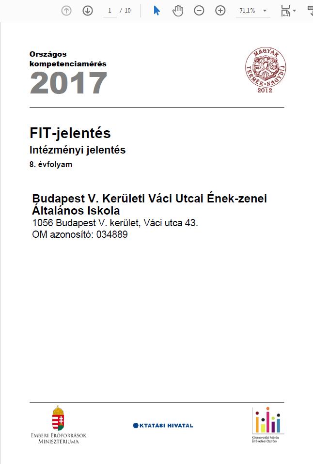 OKEV 2017 8. osztály